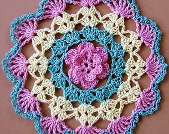 Flower Crochet  Doily