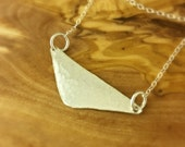 Triangle Necklace, Triangle Jewelry, Tiny Triangle, Hammered Triangle, Sustainable Jewelry, Eco Fashion, Gifts Under 50