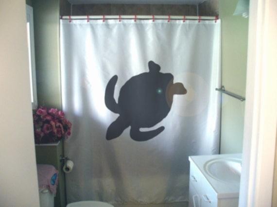 items similar to swimming turtle shower curtain swim half shell sea water aquatic reptile. Black Bedroom Furniture Sets. Home Design Ideas