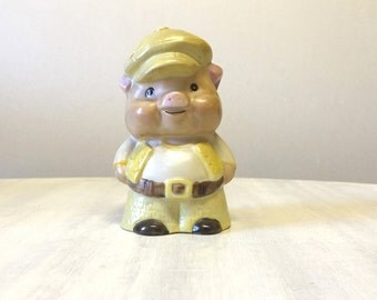 Vintage piggy bank, ceramic piggy bank, coin bank, vintage bank, retro piggy bank, vintage money box, vintage money bank, ceramic piggy bank