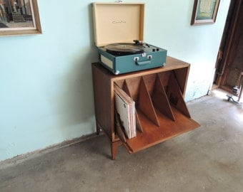 MID CENTURY MODERN Media Stand with Record Album Storage (Los Angeles)