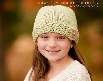 Martha's Vineyard Hat, Hand Knitted Baby Hat, Custom Baby Hat, Girls' Knit Hat, Cape Cod Hat, Cotton Summer Knit Hat, Toddler Knit Hat