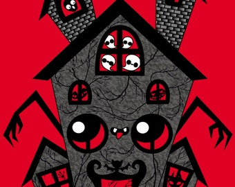 Print 4x6 Haunted house