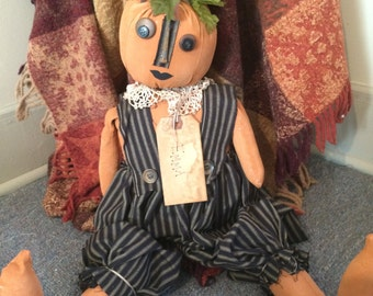 Primitive pumpkin Doll