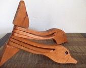 Vintage Wooden Nesting Geese Wall Hook