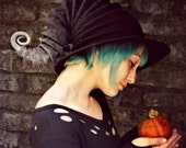 Storm Witch Hat. Wizard Costume Hat. Fantasy Hat. Cosplay Hat. LARP.
