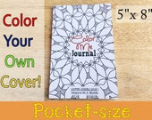 Writing Journal Coloring Book 100 pages  of writing and  Coloring Pages Pocket Size