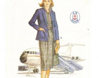 Butterick 6356 Misses Pattern Size 12, Misses Jacket, Skirt, and Blouse, Vintage Butterick Pattern, Sewing Pattern, Uncut