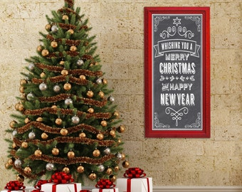 "PERFECT CHRISTMAS GIFT Unique Magnetic Chalkboard 53""x29"" Gifts For Her Red Decor Red Kitchen Home Office Furniture Unique Interior Signage"