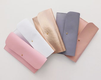 Wedding Clutches Bridal Purses Leather Minimal Pastel Leather Clutch Bride Wedding Handbag Bridesmaid clutch Evening Bag Mothers Day Purse