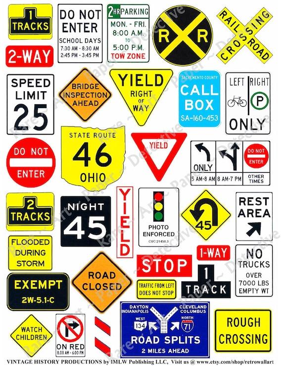 Road Signs Digital Roadway Clip Art Highway Sign ClipArt