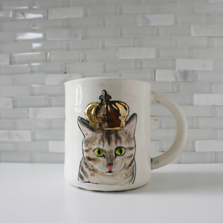 cat crown mug