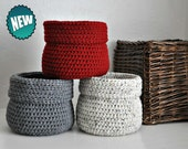 3 Baskets Catchall Storage Bins Modern Decor Contemporary Design Log Cabin Decor Custom Colors