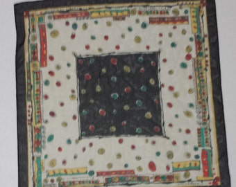 LAST CHANCE - Vintage ERRE Scarf, Made in Italy