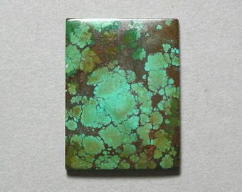 TURQUOISE rectangle cabochon 30X40mm green designer cab