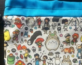 Totoro and friends Drawstring Bag