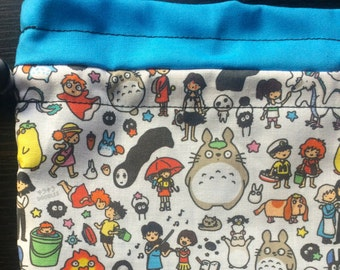 Totoro and friends Drawstring Bag