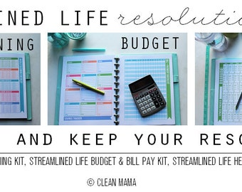 ORGANIZE - The Streamlined Life RESOLUTION Kit - 37 documents - standard and half size included - Instant Download
