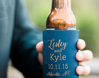 Personalized Wedding Favors, Wedding Can Coolers, Custom Beverage Insulators, Beer Huggers - Available in Any State