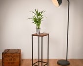 Reclaimed Wood and Steel Industrial Tall Table