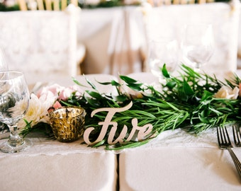 Table Number Words - Rustic Wooden Words for Table Number Wedding Decor - Rustic Southern Wedding (Item - LWN100)