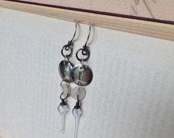 Key To My Heart handmade sterling silver earrings