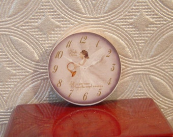 Miniature Dollhouse Angel Clock One Inch Scale 1:12