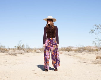 70s Floral print Bell bottoms by Mr. B California