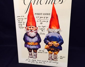 "Book ""Gnomes"" Illustrated Hardback With Dust Jacket History Of Gnomes Fictional Characters"