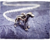 Tiny Great Dane Necklace - Sterling Silver Great Dane Charm on a Delicate Sterling Silver Cable Chain or Charm Only