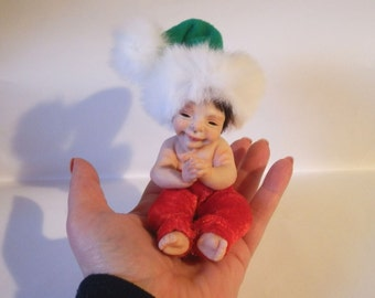 Custom Portrait 3D of Baby ,Made to order ,Pure Sculpt By Hand ,polymer clay dolls,Sculpture doll baby