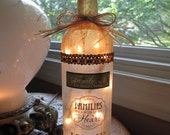 Family Wine Bottle Light, family gift ideas, wine bottle lamp, wine bottle lamps, wine bottle light, wine bottle lamps, lighted bottles