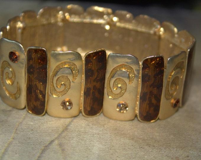 Gold Pave Stretch Bracelet