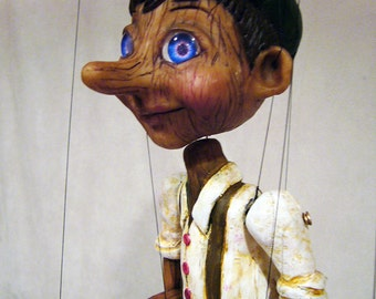PINOCCHIO Hand-made, one-of-a-kind Marionette (The Adventures of Pinocchio)