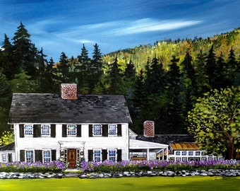 The Perfect Gift! Custom Home or Wedding Venue Painting original acrylic on wood panel
