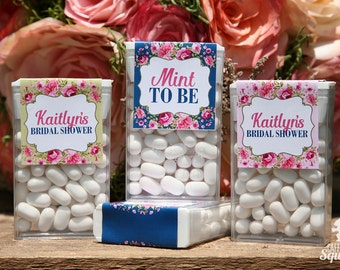 Mint To Be Tic Tac Labels, Perfect for Bridal Showers, Wedding, Flowers, Navy, Pink, Green, Baby Shower, Roses, Mints, Fresh, Favor