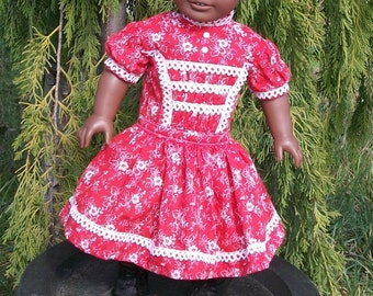 1800's Historical dress fits most 18inch dolls