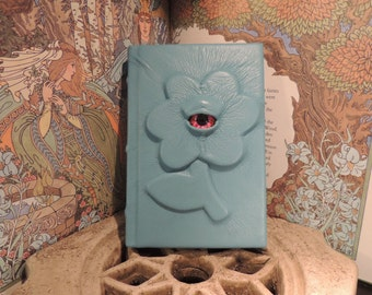 Mythical Beast Book (Light Blue Flower with Red eye)