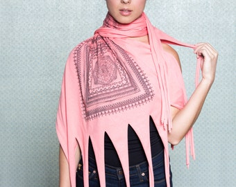 50% Off: The Coral Fringe Scarf