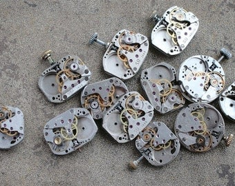 Vintage small Watch Movements -- set of 12 -- D6