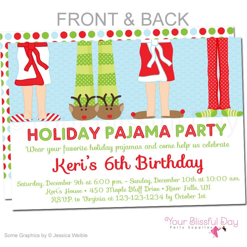 Christmas Pj Party Invitation with great invitations design