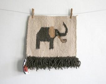 Elephant Woven Wool Textile