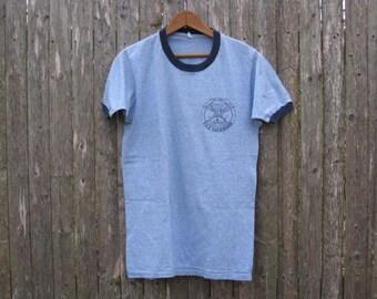 Vintage USS Lockwood Ringer Tshirt Mens Small