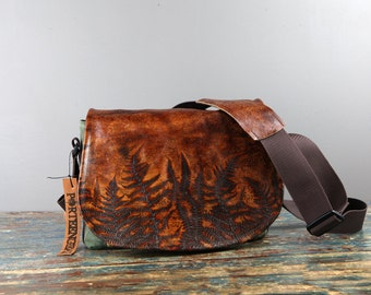 Limited Edition! Leather Camera Bag New Satchel Ferns  -  Leather DSLR - PRE-ORDER