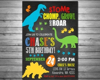 Dinosaur Birthday Invitations, Printable File, Dinosaur Dig Invitation, Jurrasic Invitation, Dino Birthday Party, Dinosaurs