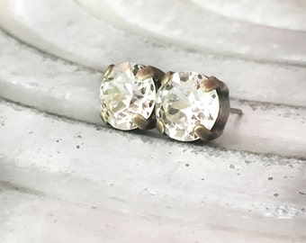 Bridesmaid Swarovski Studs - Simple Crystal Studs - Swarovski Stud Earrings - Bridesmaid Post Earrings - EveryDay Stud Earrings