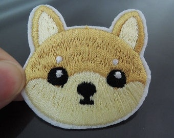 Iron On Patch - Cute Dog Patches Animal patch Small Doggie Applique embroidered patch Sew On Patch