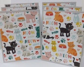 Cat Stationery, Cat Cards, Kitten Cards, Kitten Stationery, Feline Stationery, Cat Note Cards, Feline Cards, 6 Cards and Envelopes