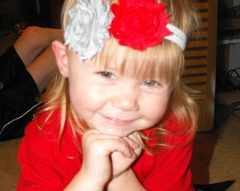 Design your own Shabby Flower Headbands. Choose your colors and patterns. Made to order