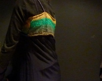 Garden Fairy Strappy Top, elven colors, hand knitted in Japanese silk, mohair and wool yarn